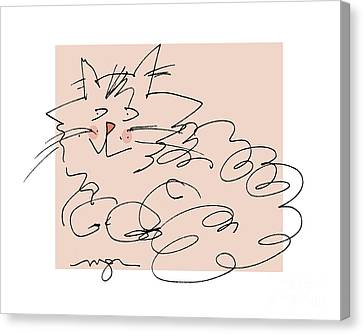 Curly Cat Canvas Print