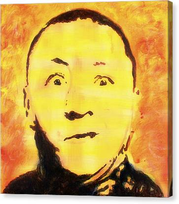Canvas Print featuring the painting Curly Howard Three Stooges Pop Art by Bob Baker