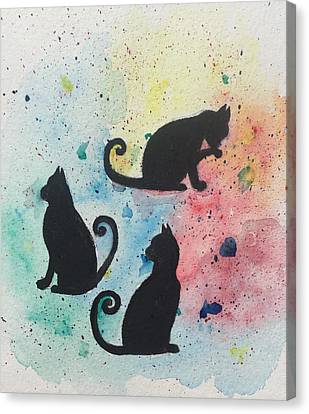 Curly Tails Canvas Print