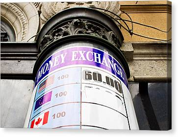 Currency Exchange Canvas Print