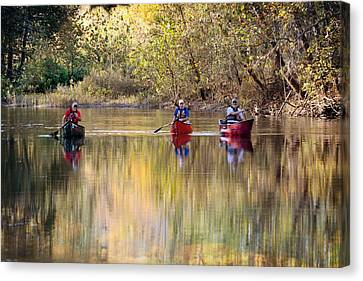 Current River Fall Float Canvas Print by Marty Koch