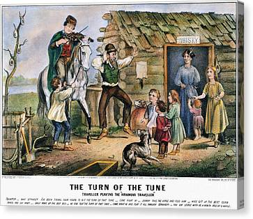 Currier  Ives Folk Tradition Canvas Print by Granger