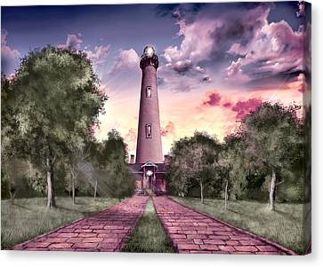 Currituck Beach Lighthouse 2 Canvas Print by Bekim Art