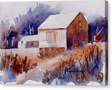 Canvas Print featuring the painting Curtis Farm In Ellicott City by Yolanda Koh