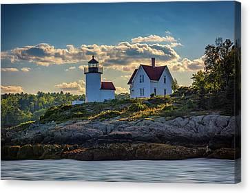 Penobscot Bay Canvas Print - Curtis Island Lighthouse by Rick Berk
