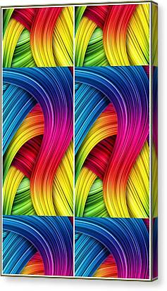 Curved Abstract Canvas Print