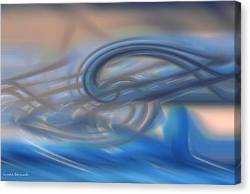 Curved Lines Canvas Print by Linda Sannuti