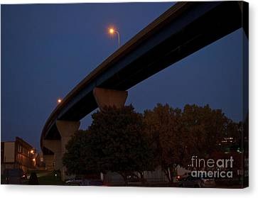 Curvy Bayview Evening -luther Fine Art Canvas Print by Luther Fine Art