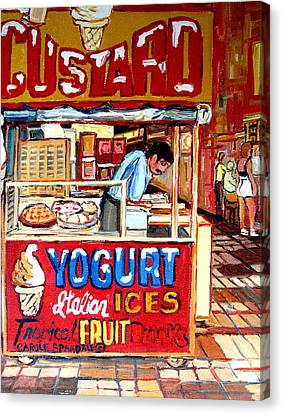 Custard Cart Canvas Print by Carole Spandau