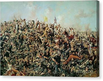 Custer's Last Stand Canvas Print by Edgar Samuel Paxson