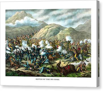 Custer's Last Stand Canvas Print by War Is Hell Store