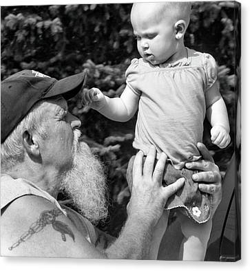 Old Grandfather Time Canvas Print - Custom Ag 086660 Rough Diamond Treasured Moment by Betsy Knapp