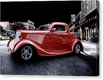 Custom Car On Street Canvas Print
