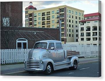 Canvas Print featuring the photograph Custom Chevy Asbury Park Nj by Terry DeLuco