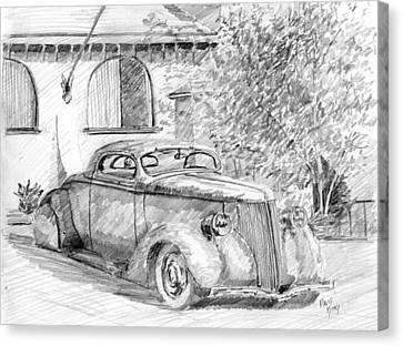 Custom Ford Graphite Canvas Print