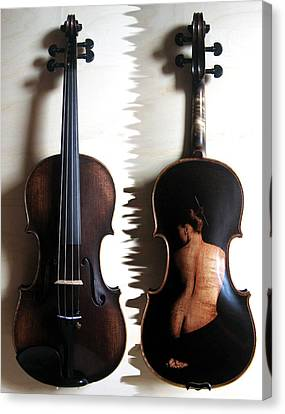 Custom Gliga Violin 2 Canvas Print by Dino Muradian