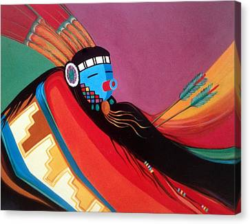 Hopi Canvas Print - Custom Kachina by Marlene Burns