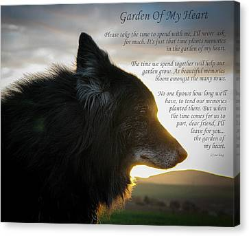 Custom Paw Print Garden Of My Heart Canvas Print