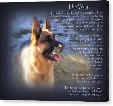 Custom Paw Print Maxx Canvas Print