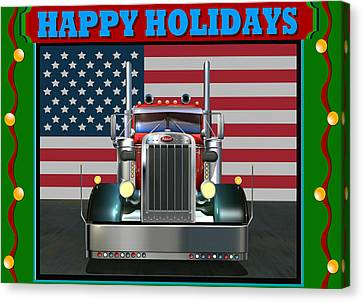 Custom Pete Happy Holidays Canvas Print by Stuart Swartz