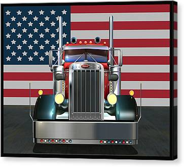4th Canvas Print - Custom Peterbilt 2 by Stuart Swartz