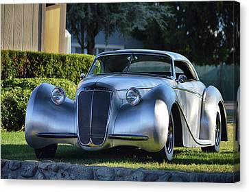 Canvas Print featuring the photograph Custom Stainless Roadster by Bill Dutting