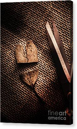 Separation Canvas Print - Cut Heart Leaf, Fall Of Love by Jorgo Photography - Wall Art Gallery
