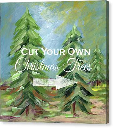 Cut Your Own Tree- Art By Linda Woods Canvas Print by Linda Woods