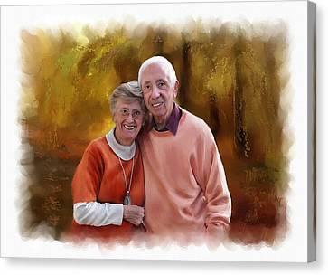 Cute Couple Portrait Canvas Print