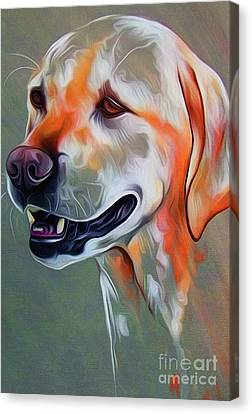 Chin On Hand Canvas Print - Cute Dog 01 by Gull G