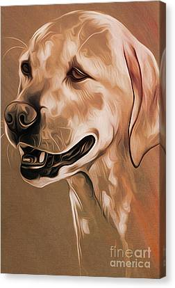 Chin On Hand Canvas Print - Cute Dog  by Gull G
