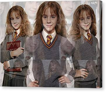 Cute Hermione Granger Canvas Print by F S