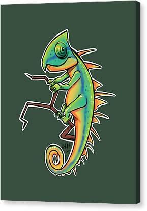 Cute Iguana Canvas Print