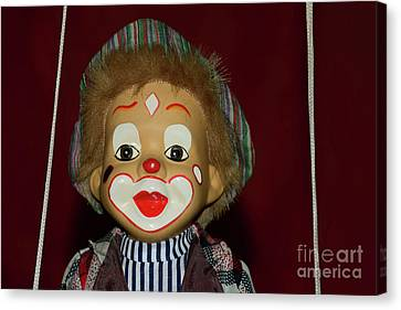 Canvas Print featuring the photograph Cute Little Clown By Kaye Menner by Kaye Menner