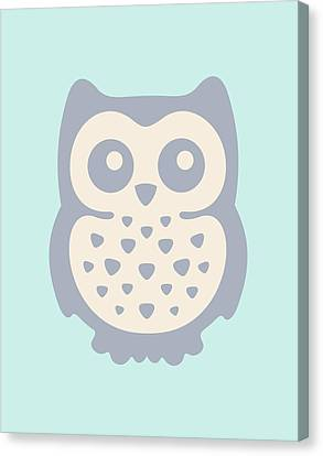 Cute Owl Canvas Print by Julia Jasiczak