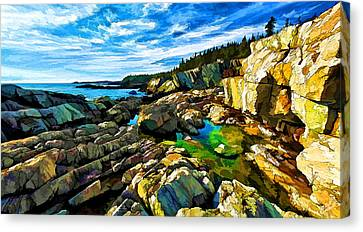 Cutler Coast At Fairy Head Canvas Print by ABeautifulSky Photography