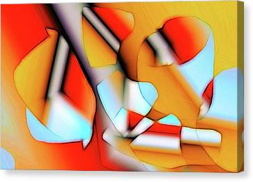 Canvas Print featuring the digital art Cutouts by Ron Bissett
