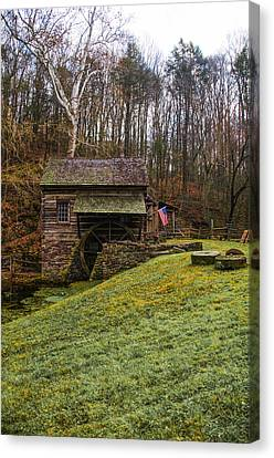 Cuttalossa Mill  - Solebury Township Bucks County Pa Canvas Print by Bill Cannon