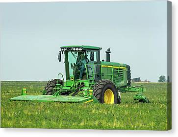 Cutting Alfalfa Canvas Print by Todd Klassy