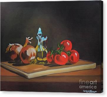 Cutting Board Canvas Print by Amy Wilkinson