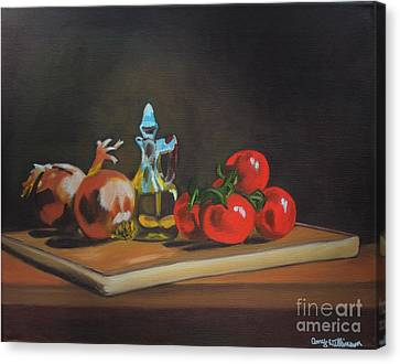 Cutting Board Canvas Print