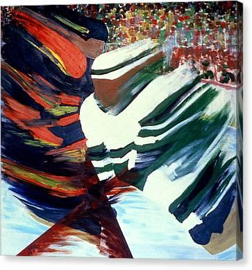 Cutting In Canvas Print by Ken Yackel