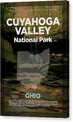 River Canvas Print - Cuyahoga Valley National Park In Ohio Travel Poster Series Of National Parks Number 18 by Design Turnpike