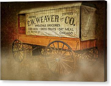 Antique Canvas Print - C.w. Weaver And Co. Wagon by Susan Candelario