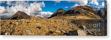 Cwm Idwal Panorama Canvas Print by Adrian Evans