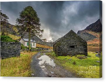 Canvas Print featuring the photograph Cwmorthin Slate Ruins by Adrian Evans