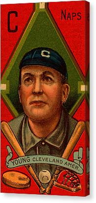 Cy Young, Cleveland Canvas Print by Vintage Pix