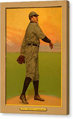 Cy Young Canvas Print by Vintage Pix