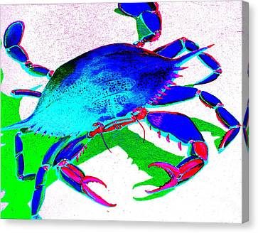 Cyan Crab Canvas Print