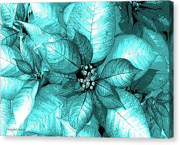 Cyan Shimmer Canvas Print by DigiArt Diaries by Vicky B Fuller